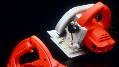 Electric saw developed in part by Art of Mass Production, a San Diego based plastics engineering company